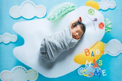 貴重な新生児期に残しておきたい「おくるみ」を使ってピュアなニューボーンフォト