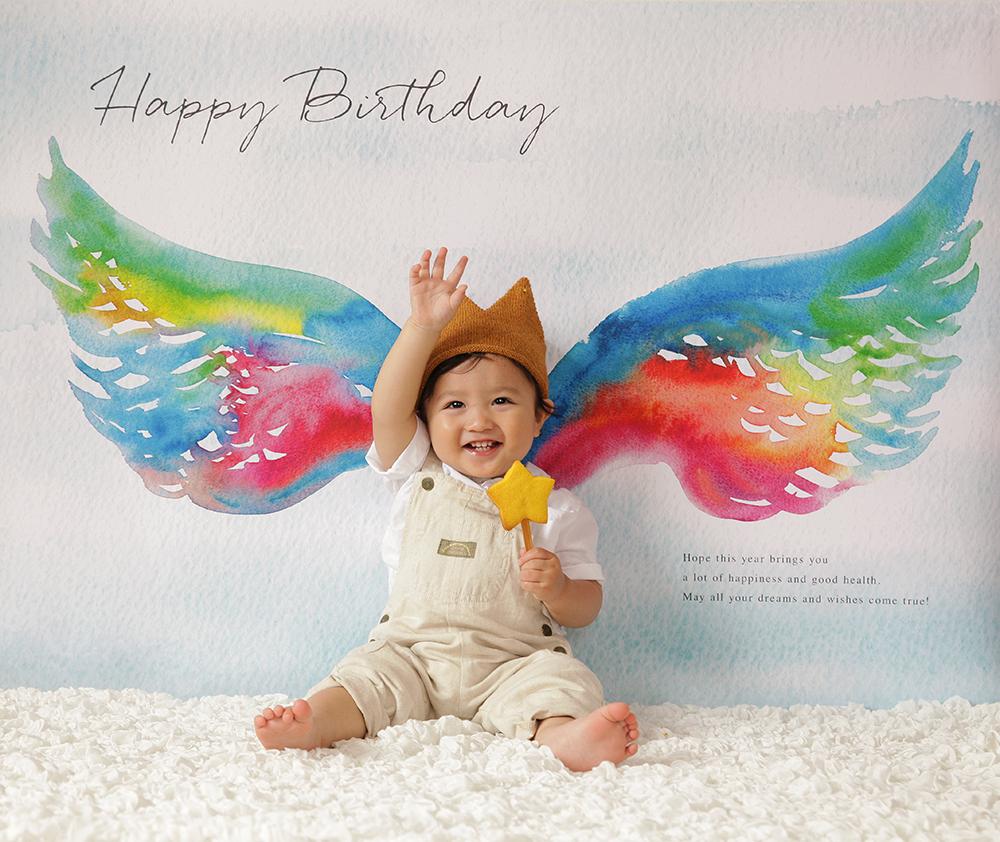 自宅で簡単に。誕生日写真が撮れる「おうち写真館」は1度買えば、何回も楽しめる!