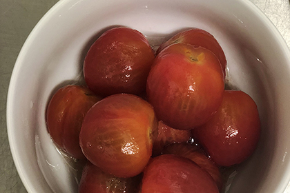 仕事中の気分転換に、5分レシピ:プチトマトのマリネ