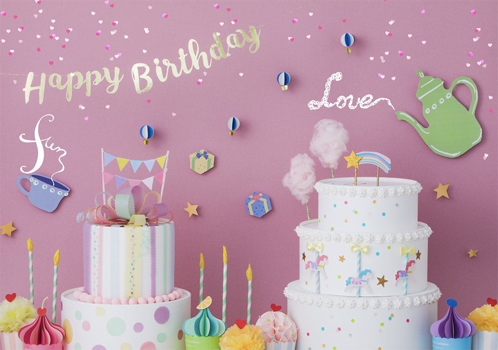 おうち写真館 2歳誕生日 女の子の写真 バースデー 花冠 2歳 誕生日 写真 セルフ おうち 撮影 バースデーフォト ミニブーケ 誕生日飾り付け 誕生日背景